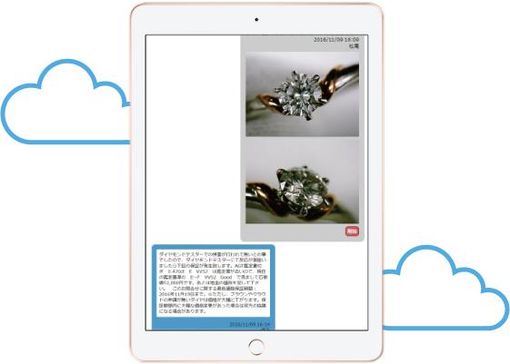 遠隔サポートページから商品の情報と画像を送るだけ